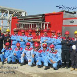 دوره آموزش ماشین آتش نشانی ایوان در پتروشیمی بندرامام