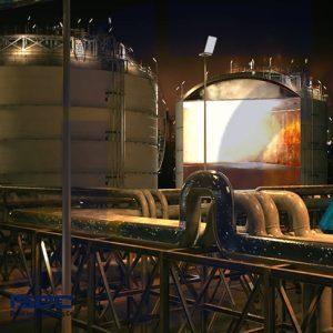 انیمیشن پارگی مخزن آمونیاک شرکت پتروشیمی پردیس